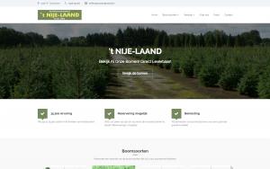 Screenshot van de website van kerstbomen Drenthe